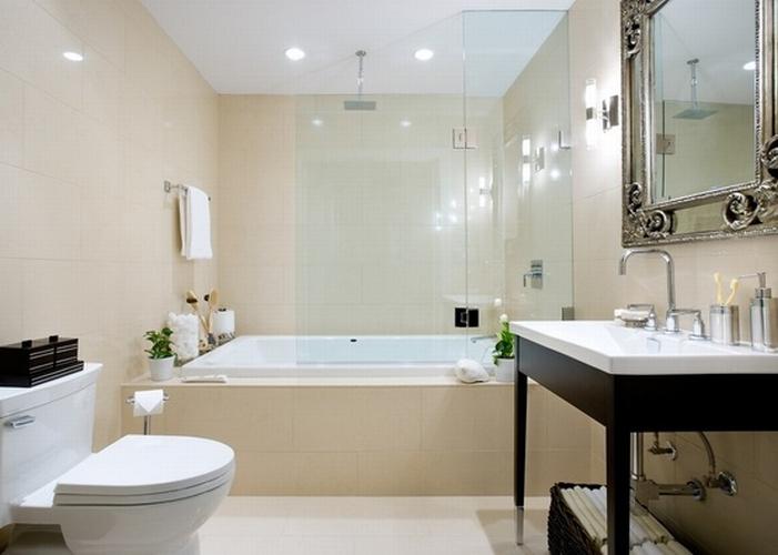 Beżowa łazienka - kokopelia design : kokopelia design