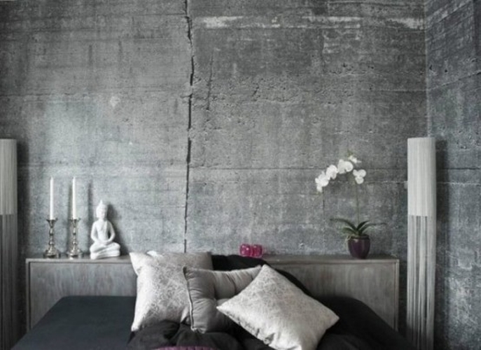 Betonowa tapeta kokopelia design kokopelia design - Wandfarbe betonoptik ...