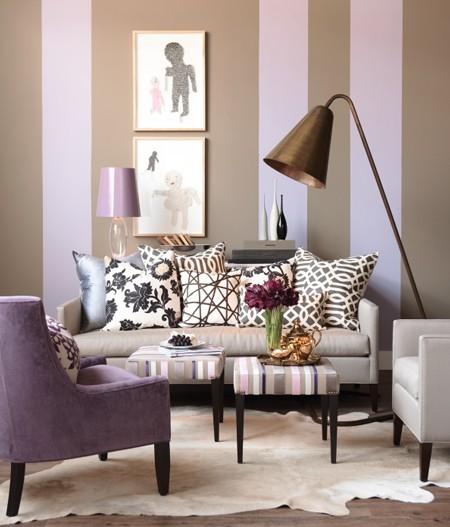 design : wohnzimmer lila braun ~ inspirierende bilder von ... - Wohnzimmer Lila Braun