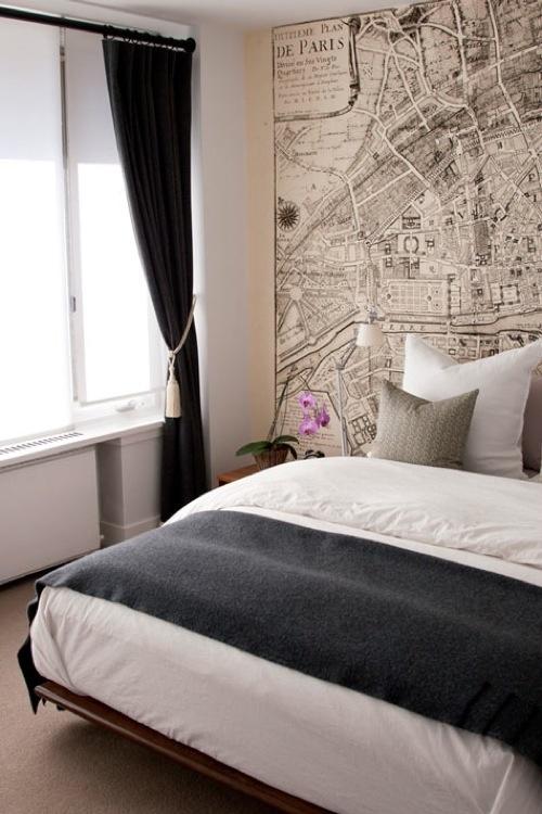Tapeta w sypialni kokopelia design kokopelia design for Blue bedroom wallpaper ideas