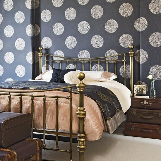 tapeta w sypialni kokopelia design kokopelia design. Black Bedroom Furniture Sets. Home Design Ideas
