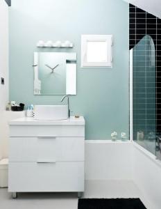Badezimmer Olivgrn