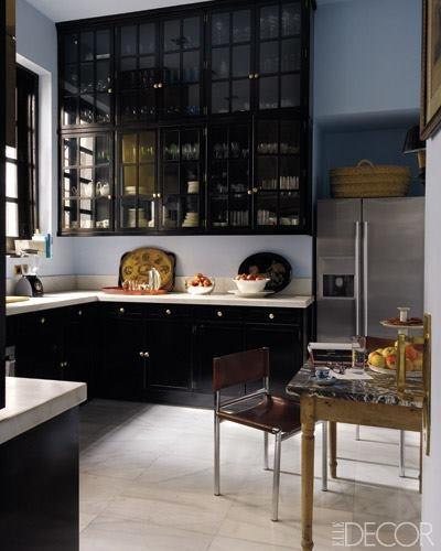 Gloss Black Kitchen Cabinets: Kokopelia Design : Kokopelia