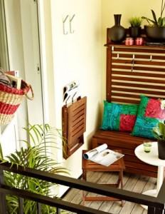 Pomys na ma y balkon kokopelia design kokopelia design for Large balcony decorating ideas