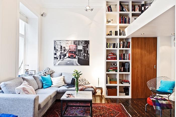 Antresola w kawalerce kokopelia design kokopelia design for Flat appartement design