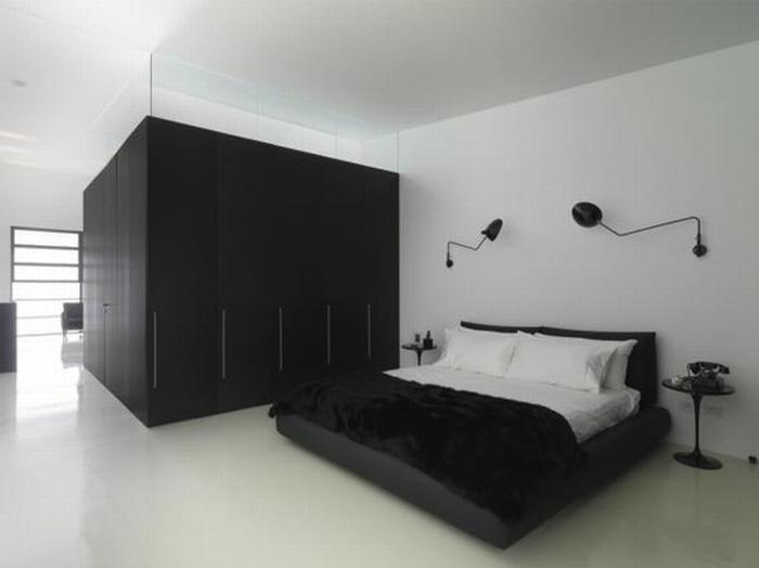 Czarno Biała Sypialnia Kokopelia Design Kokopelia Design