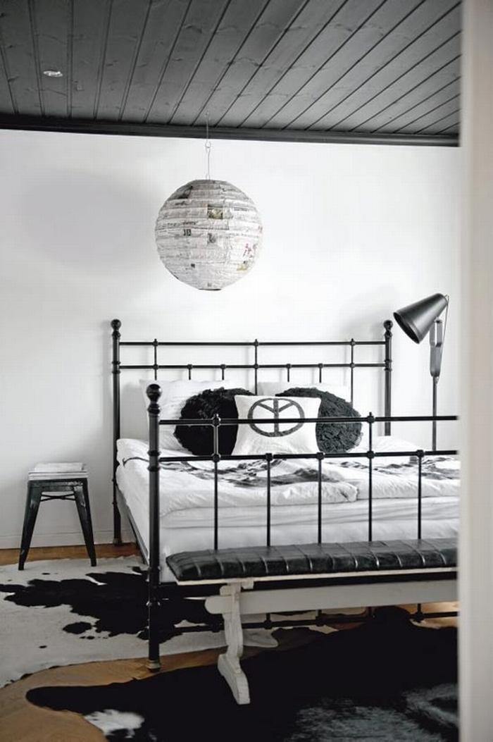 Czarno bia a sypialnia kokopelia design kokopelia design for La casa sueca decoracion