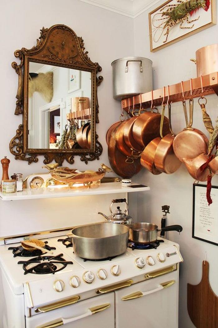 Lustro w kuchni  kokopelia design  kokopelia design