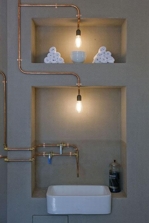 Rurki W łazience Kokopelia Design Kokopelia Design
