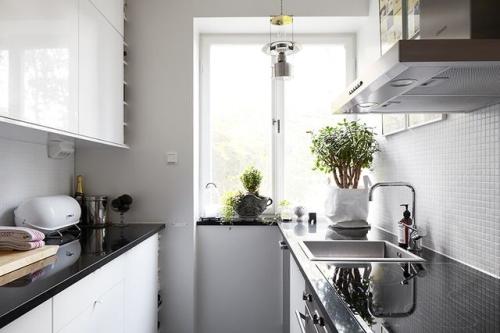 Wąskie kuchnie  kokopelia design  kokopelia design -> Male Kuchnie W Bloku Aranzacje