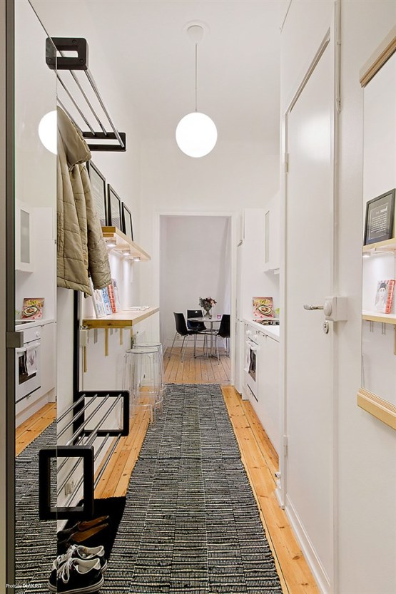 Kuchnia w przedpokoju kokopelia design kokopelia design Ideas para cocinas pequenas tipo pasillo