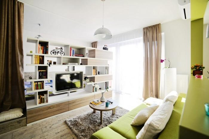 Obrotowy telewizor w cianie kokopelia design - Muebles de obra para salon ...