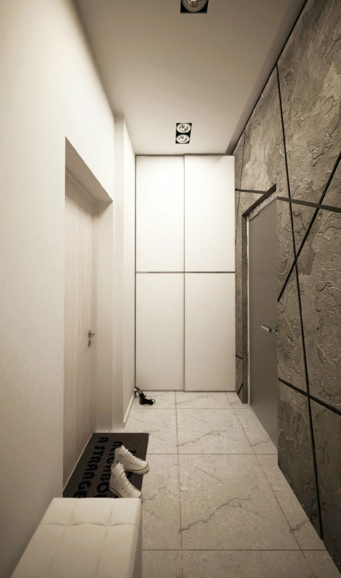 Foyer Minimalist Review : Łóżko w salonie kokopelia design