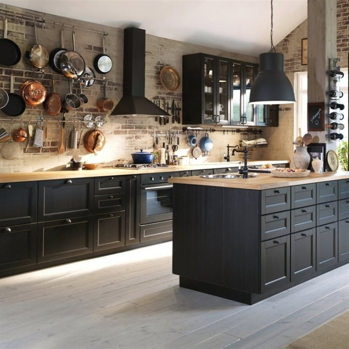 Black Kitchen Cabinets Paint Color: Kokopelia Design : Kokopelia