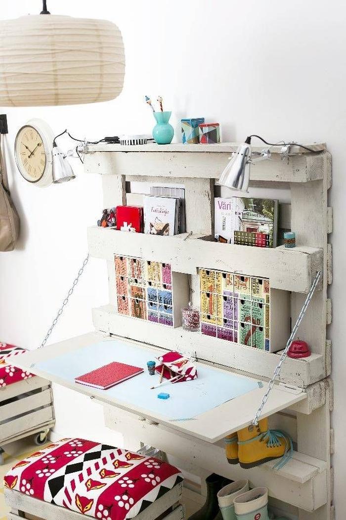 Sk adany blat i stoliki cienne kokopelia design - Bureau en palette ...