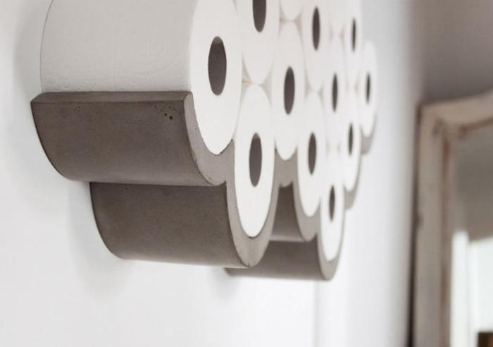 Papier w chmurze czyli uchwyt na papier toaletowy for Architecture papier